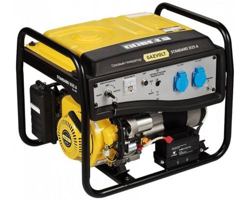 Газовый генератор 2.5 кВт Gazvolt Standard 3125 A SE 01 с автозапуском + АВР