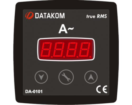 Амперметр 1-фазный 96х96 Datakom DA-0101