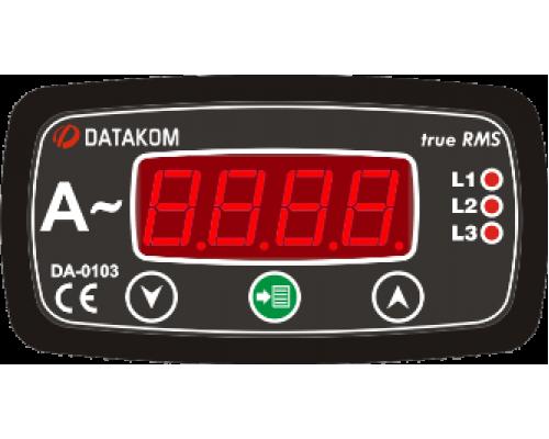 Амперметр 3-фазный 96х48 Datakom DA-0103