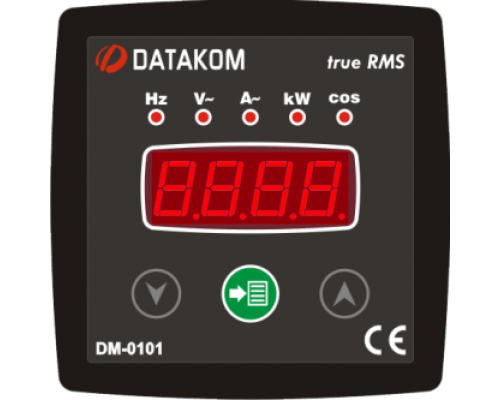 Мультиметр 1-фазный 96х96 Datakom DM-0101