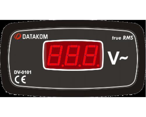 Вольтметр 1-фазный 96х48 Datakom DV-0101