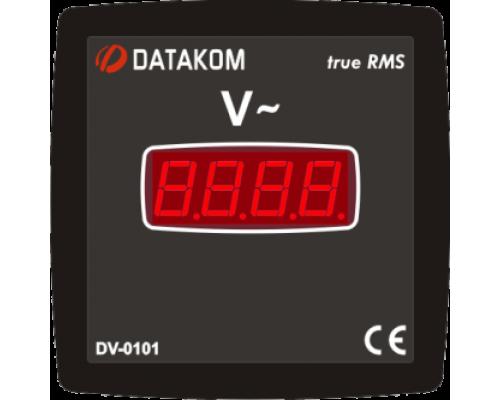 Вольтметр 1-фазный 96х96 Datakom DV-0101