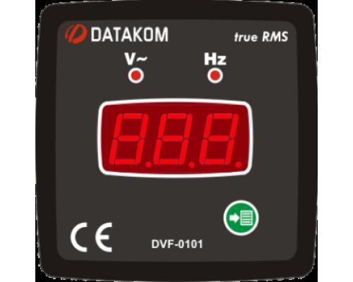 Вольтметр-частотомер 1-фазный 72х72 Datakom DVF-0101
