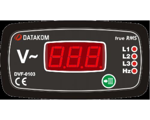 Вольтметр-частотомер 3-фазный 96х48 Datakom DVF-0103