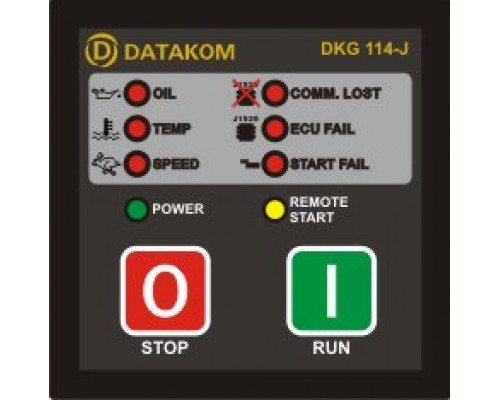 DKG-114J Модуль ручного и дистанционного запуска генератора