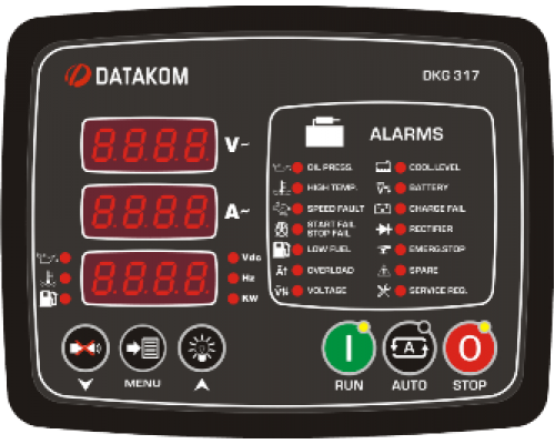 DKG-317 Модуль ручного и дистанционного запуска генератора CAN/MPU