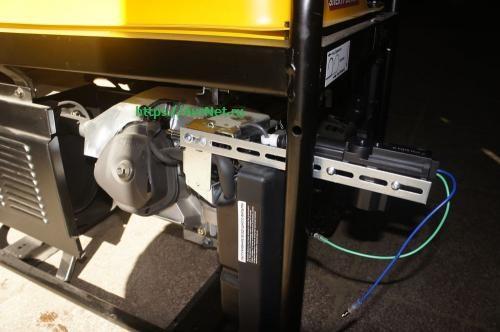 Адаптированный привод заслонки виде кольца для автозапуска генератора