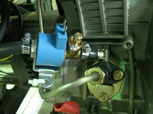 Установка и подключение топливного клапана к генератору
